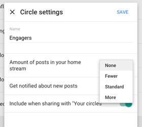 new google plus circle settings