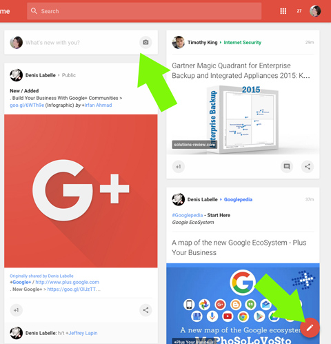 new google plus post options