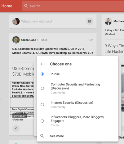 new google plus privacy visibility