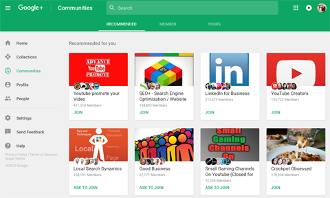 new google plus communities