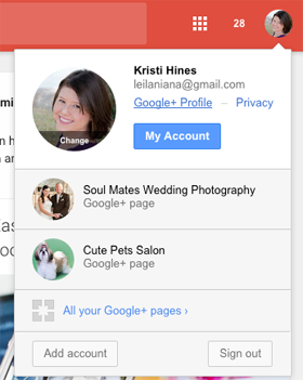 new google plus profile access