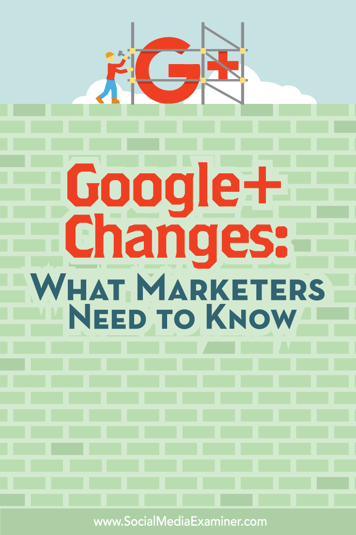 what marketers need to know about changes to google+