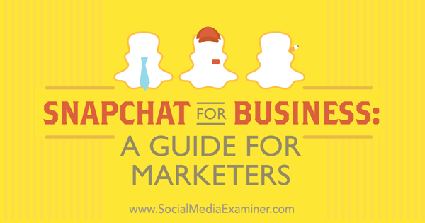 guide to snapchat for business