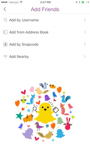 add friends on snapchat