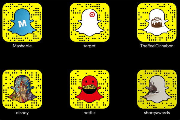 browse snapcodes