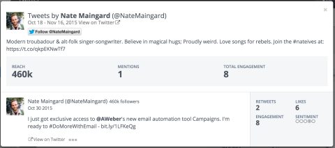 view the tweet that mentions a company in your landscape
