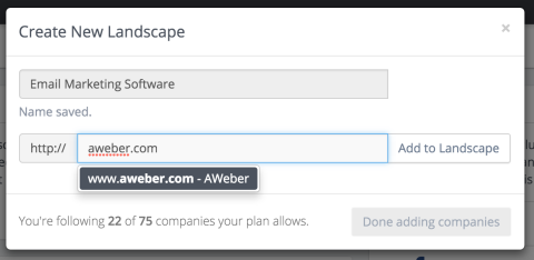 add your company in your first landscape