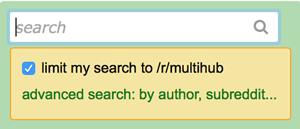 search multireddits
