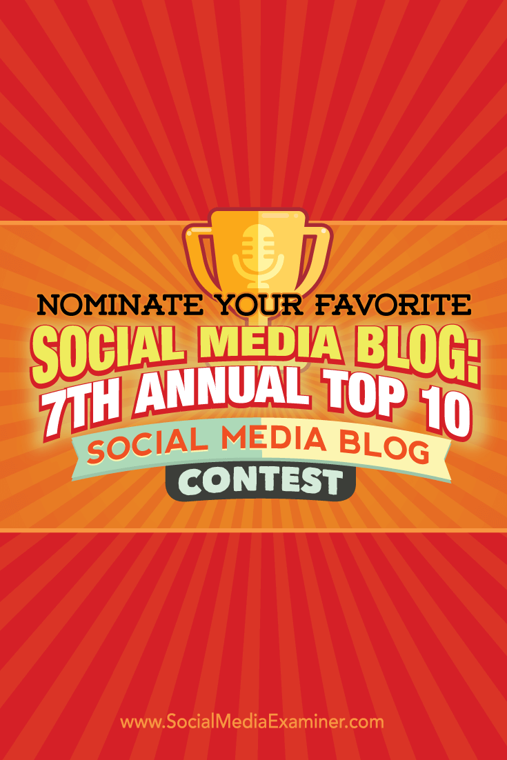 7th annual top 10 social media blog contest