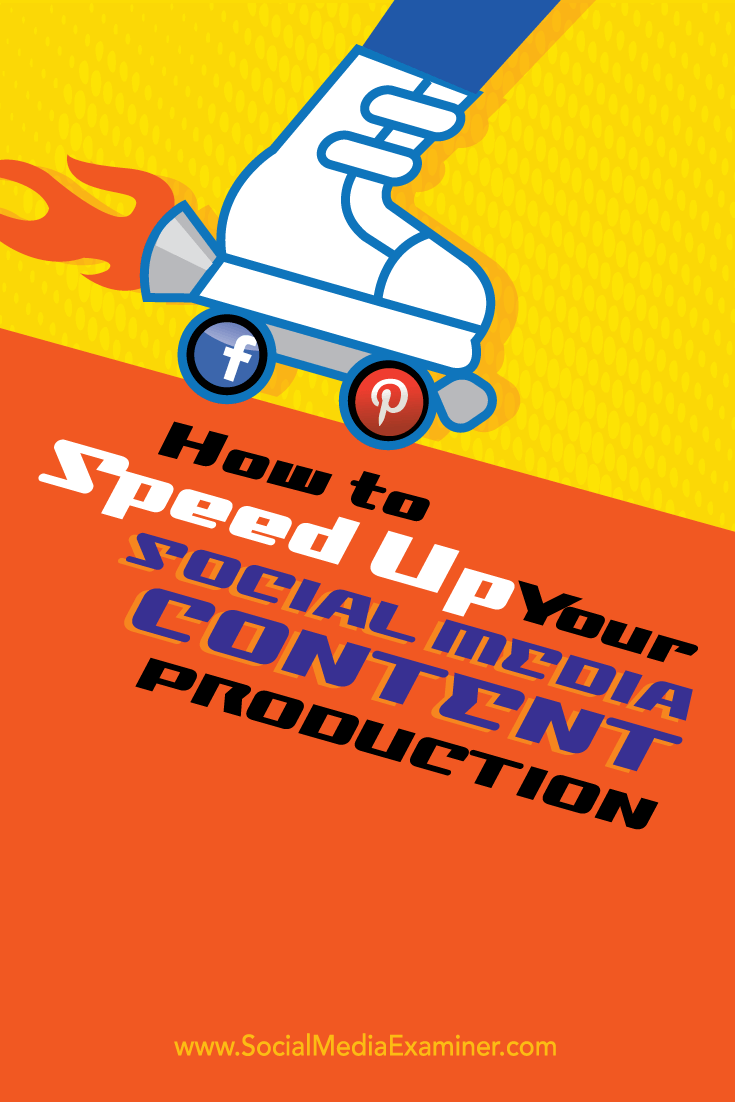 speed up social media content production