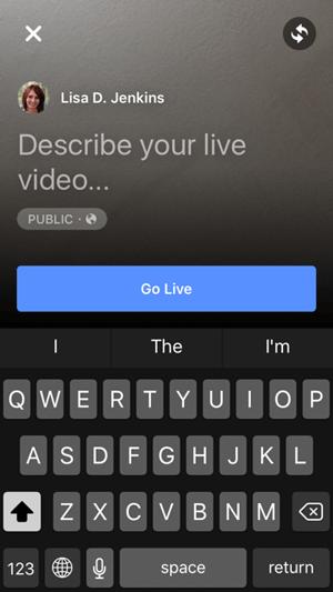 Go Live Button