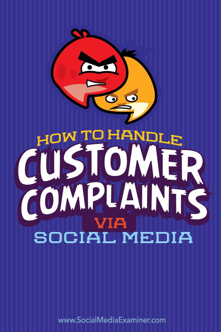 How To Handle Customerplaints On Social Media