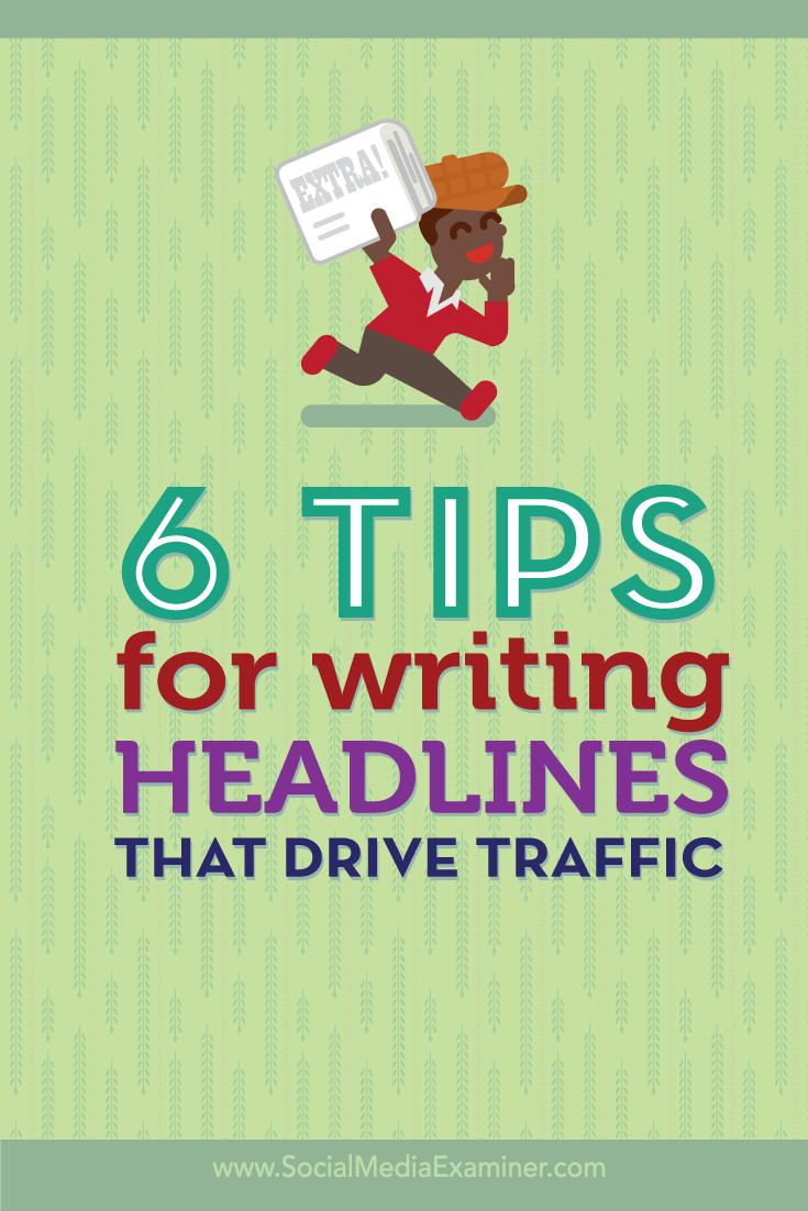 writing headlines that drive traffic