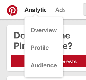 analytics menu