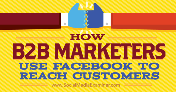 b2b marketing on facebook