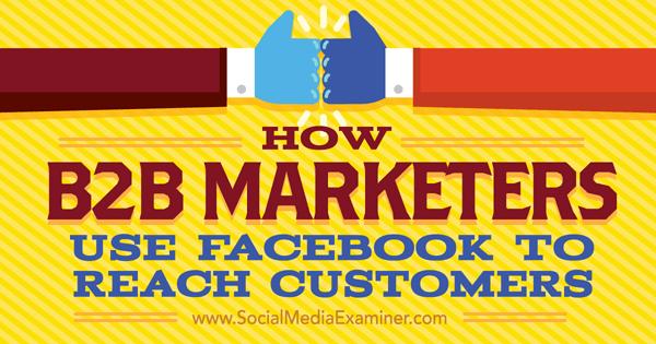 b2b marketing on facebook