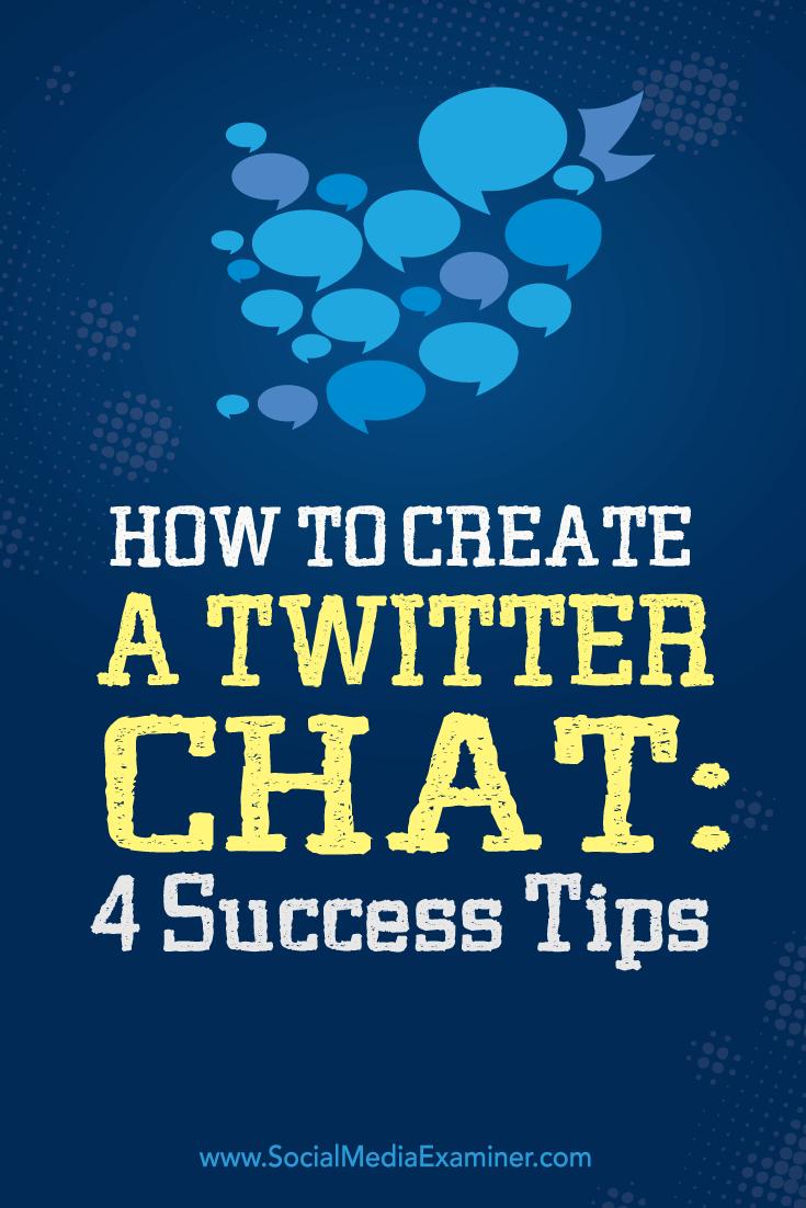 Erstellen Sie einen erfolgreichen Twitter-Chat