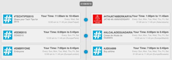 Twubs Twitter Chat-Zeitplan