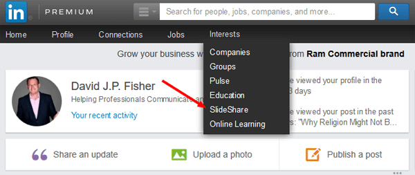 add slideshare to linkedin profile