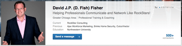 linkedin profile with photo