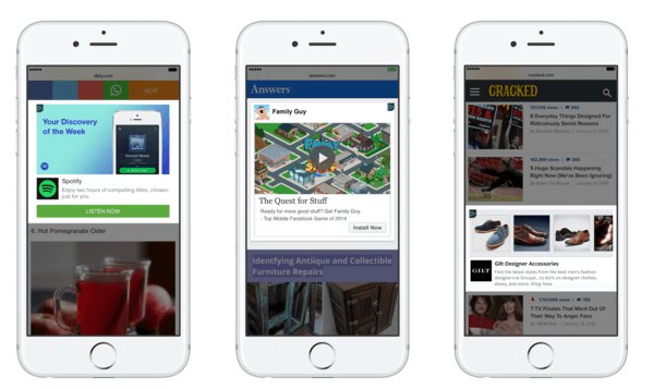 facebook expands audience network for mobile web