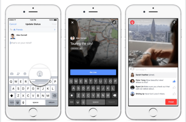 facebook expands live video on iphone