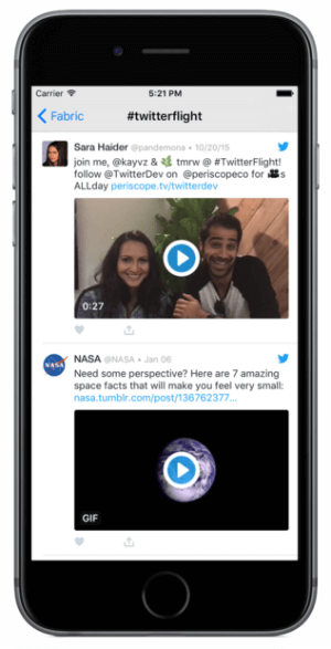 twitter gif badge and playback