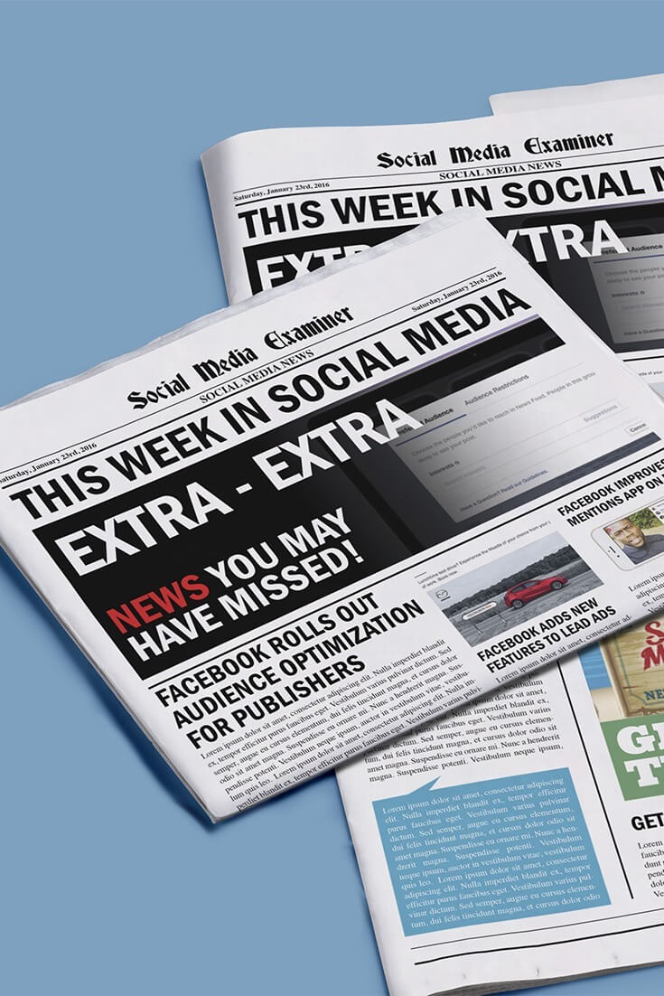 social media examiner weekly news january 23 2016