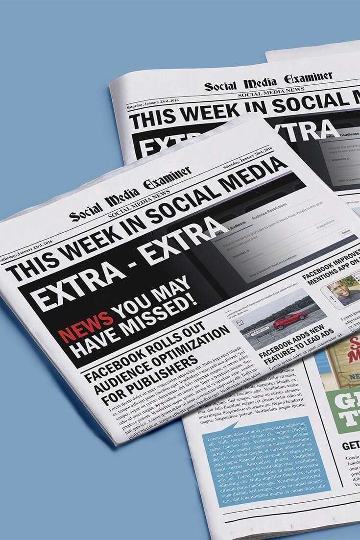 social media examiner weekly news january 23 2016