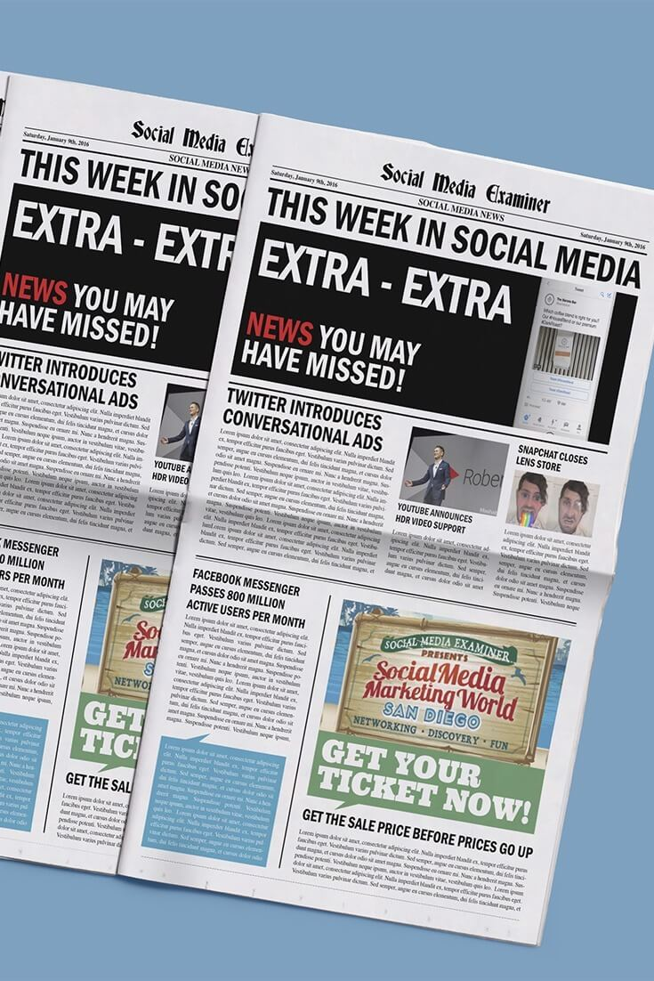 social media examiner weekly news january 9 2016