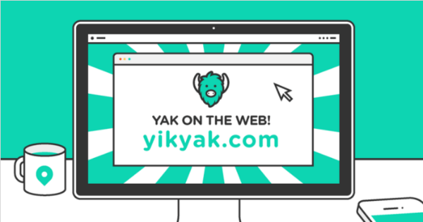 yik yak for the web
