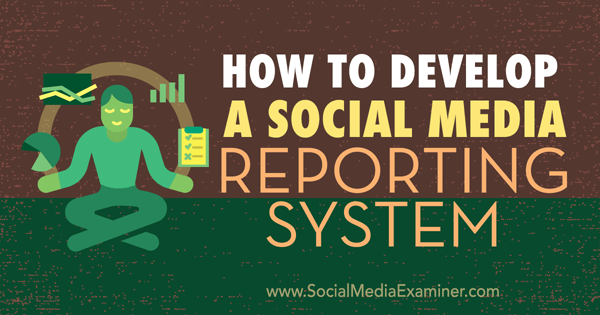develop your reporting system