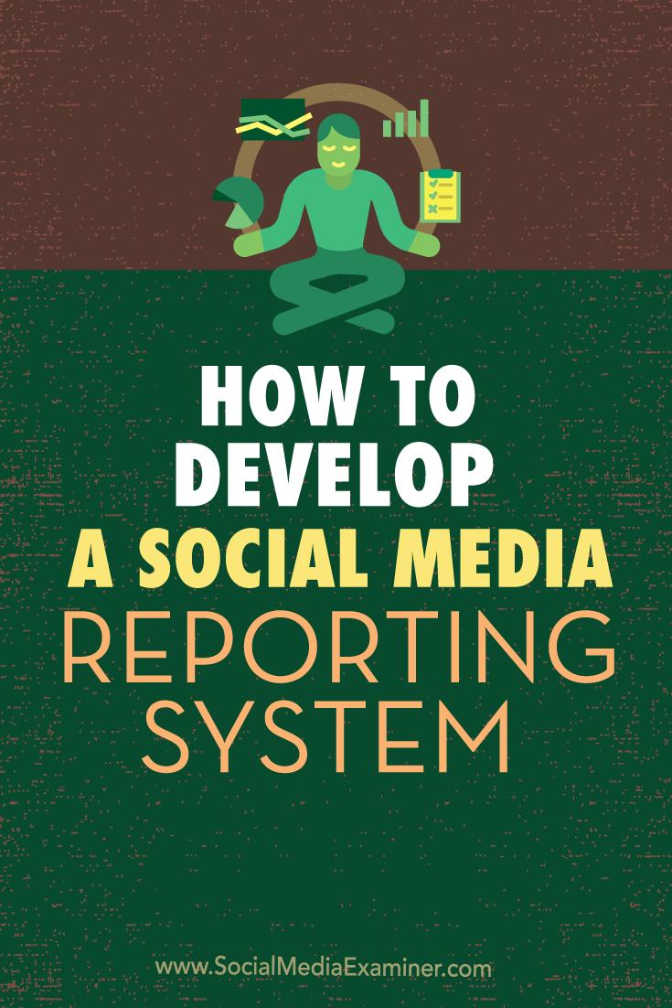 social media reporting system development