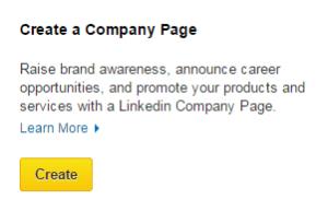 linkedin create company page