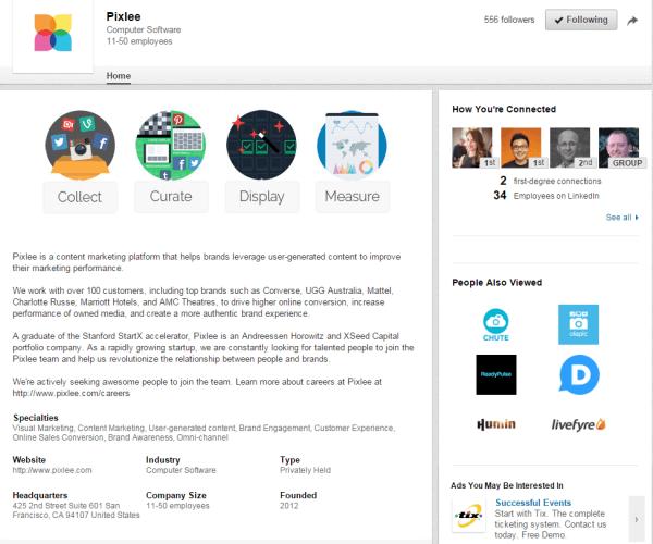 pixlee company page