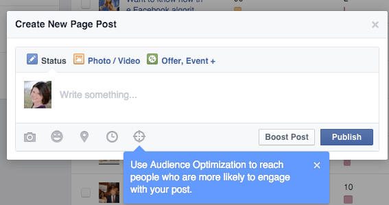 facebook audience optimization for posts icon