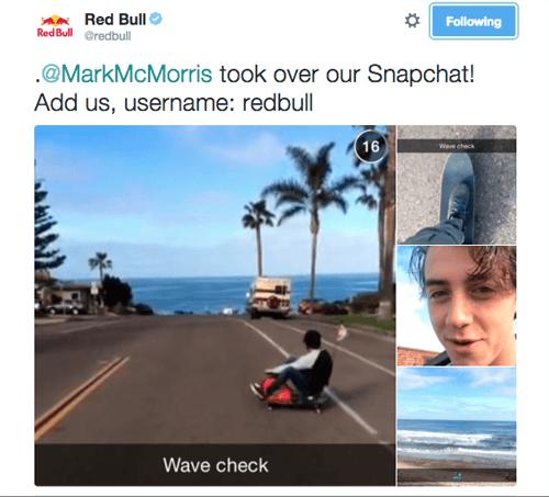 redbull snapchat