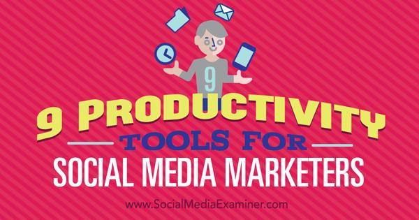 marketing productivity tools