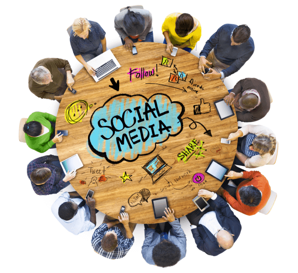 group people discussing social media shutterstock 223801453