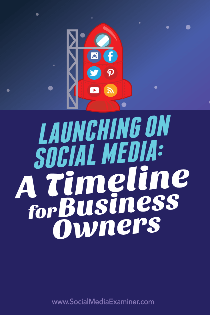 social launch timeline for business owners