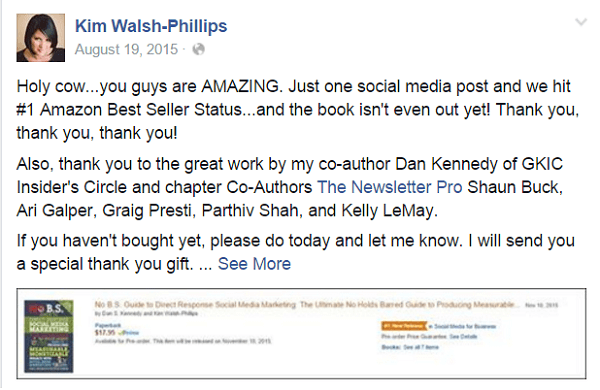 kim walsh phillips facebook post about amazon