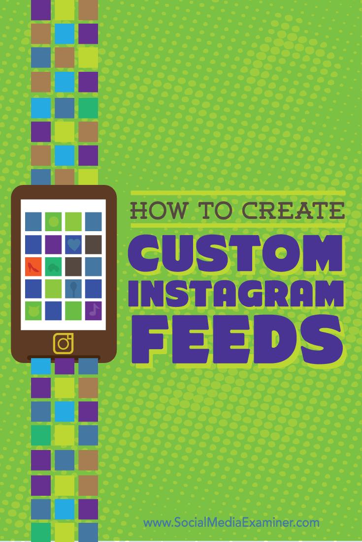 tools for custom instagram feeds