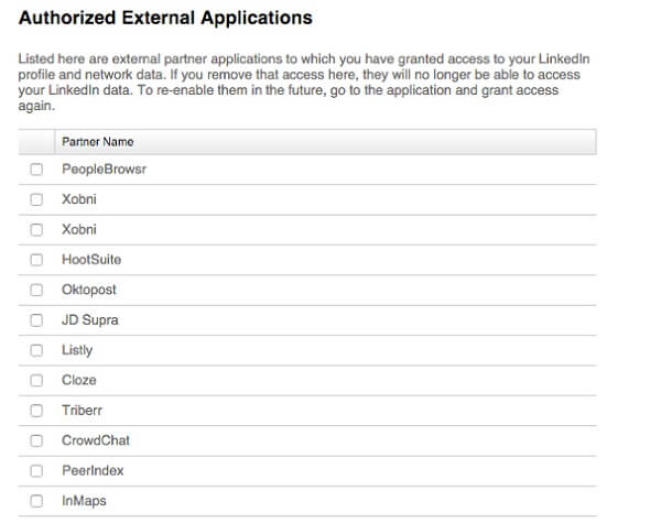 auth external apps