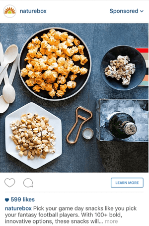 instagram ad from facebook example