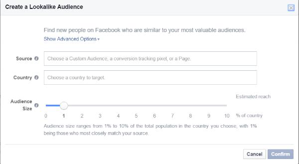 lookalike audience fan page