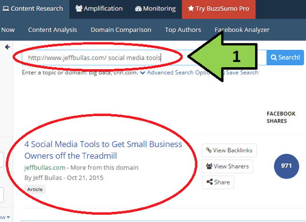 buzzsumo refine search example