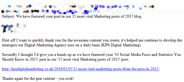 influencer email example