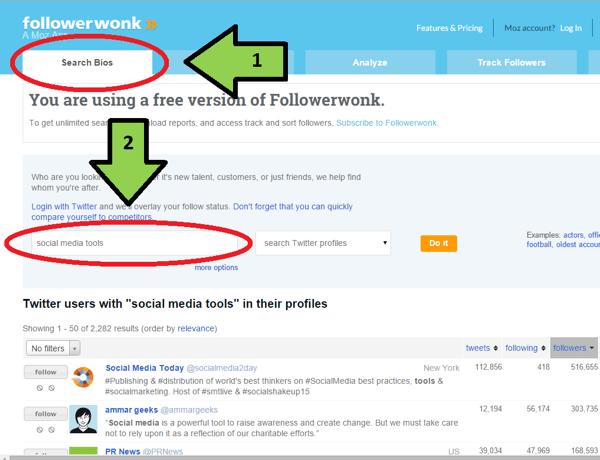 followerwonk bios search example