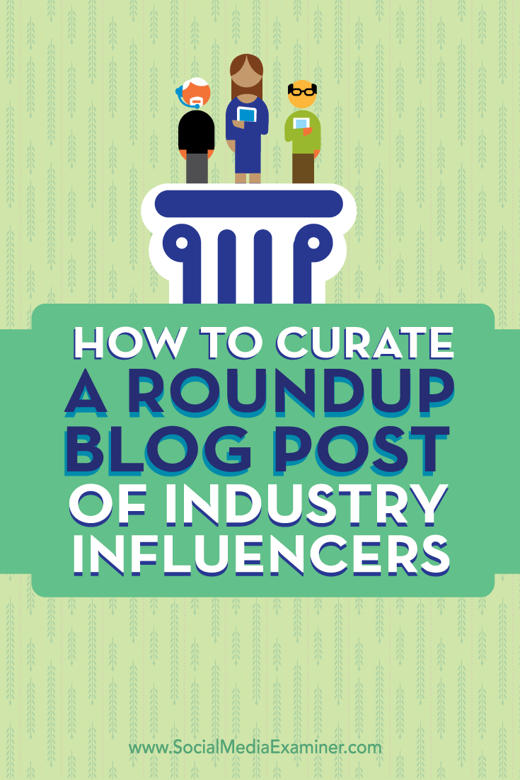 curate blog post of industry content