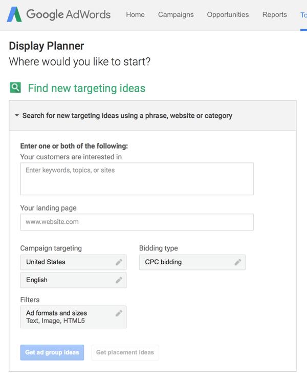 adwords display planner